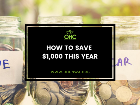 How to Save $1000 This Year