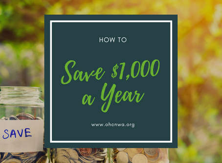 HOW TO SAVE $1000. A YEAR