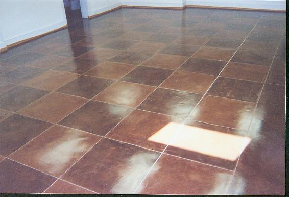acid stain basement