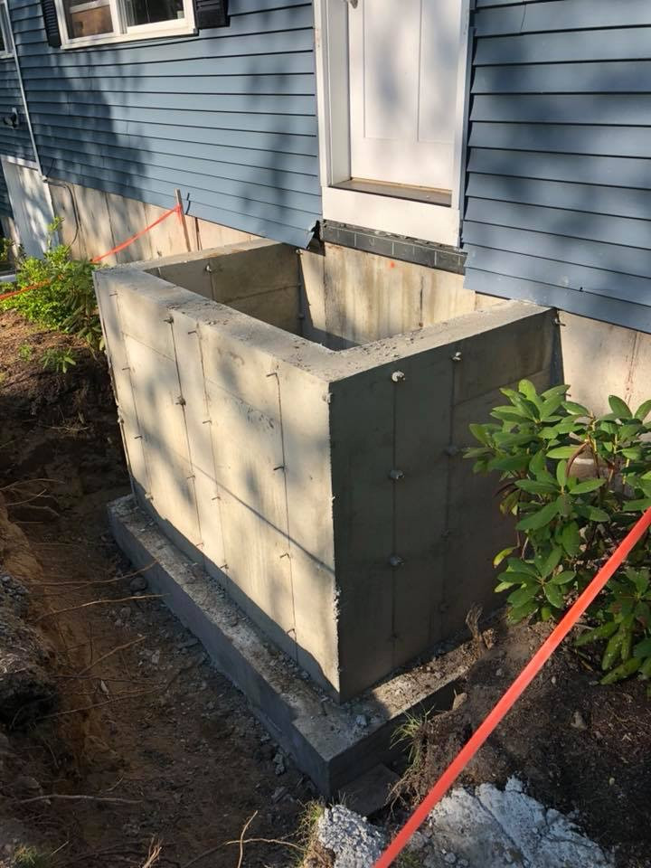 Replacement of entryway stairs