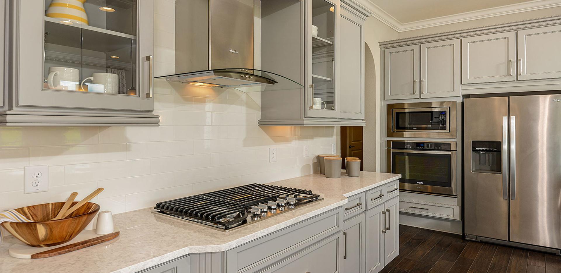 Waterside model home kitchen