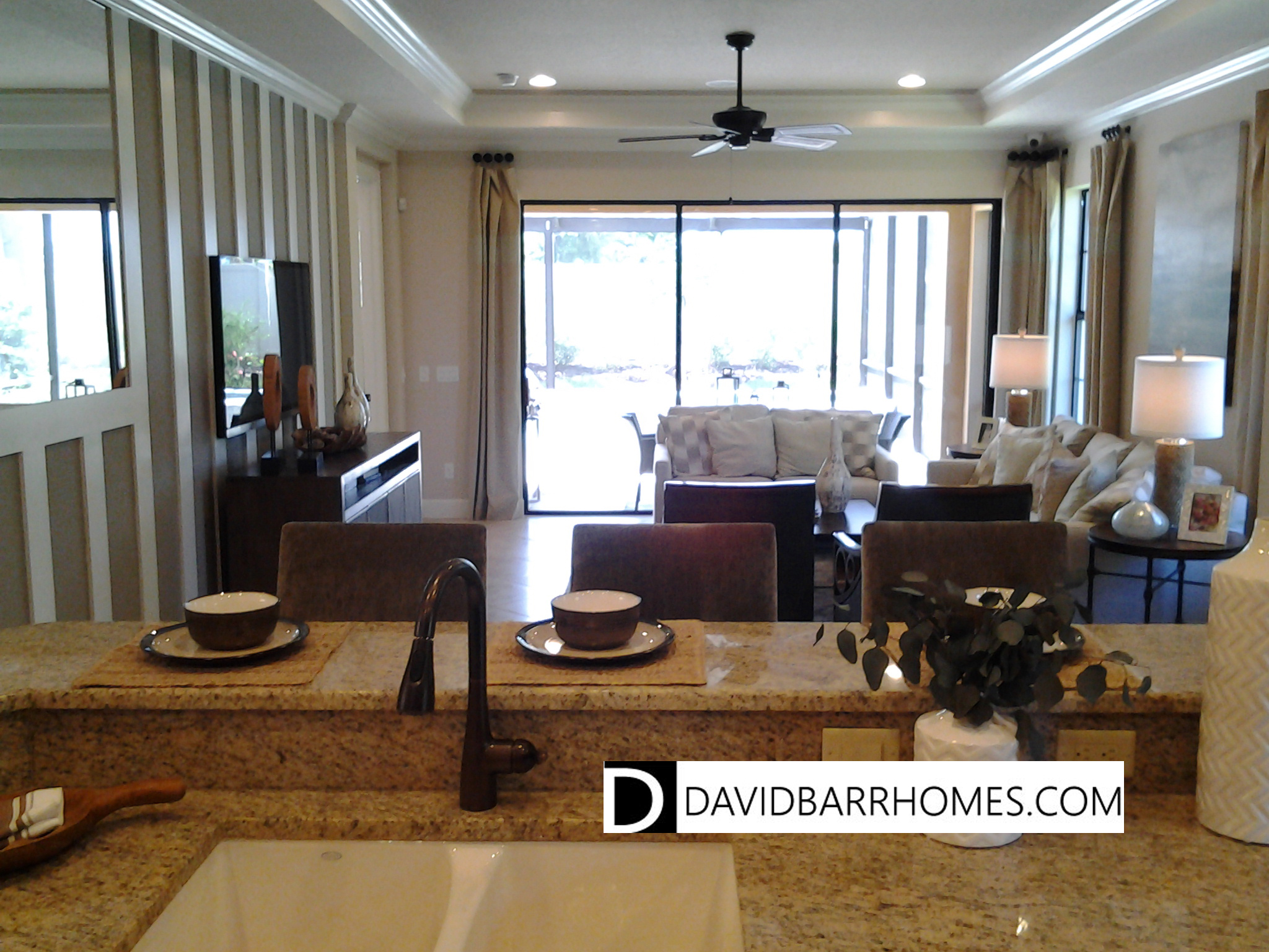 Bellacina model home living room