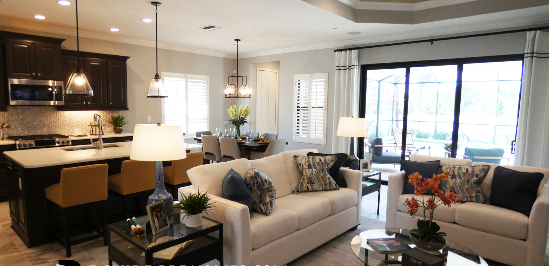 Vicenza White Star model home family room