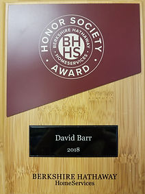 David Barr Sarasota FL Realtor 2018 BHHS Award Winner