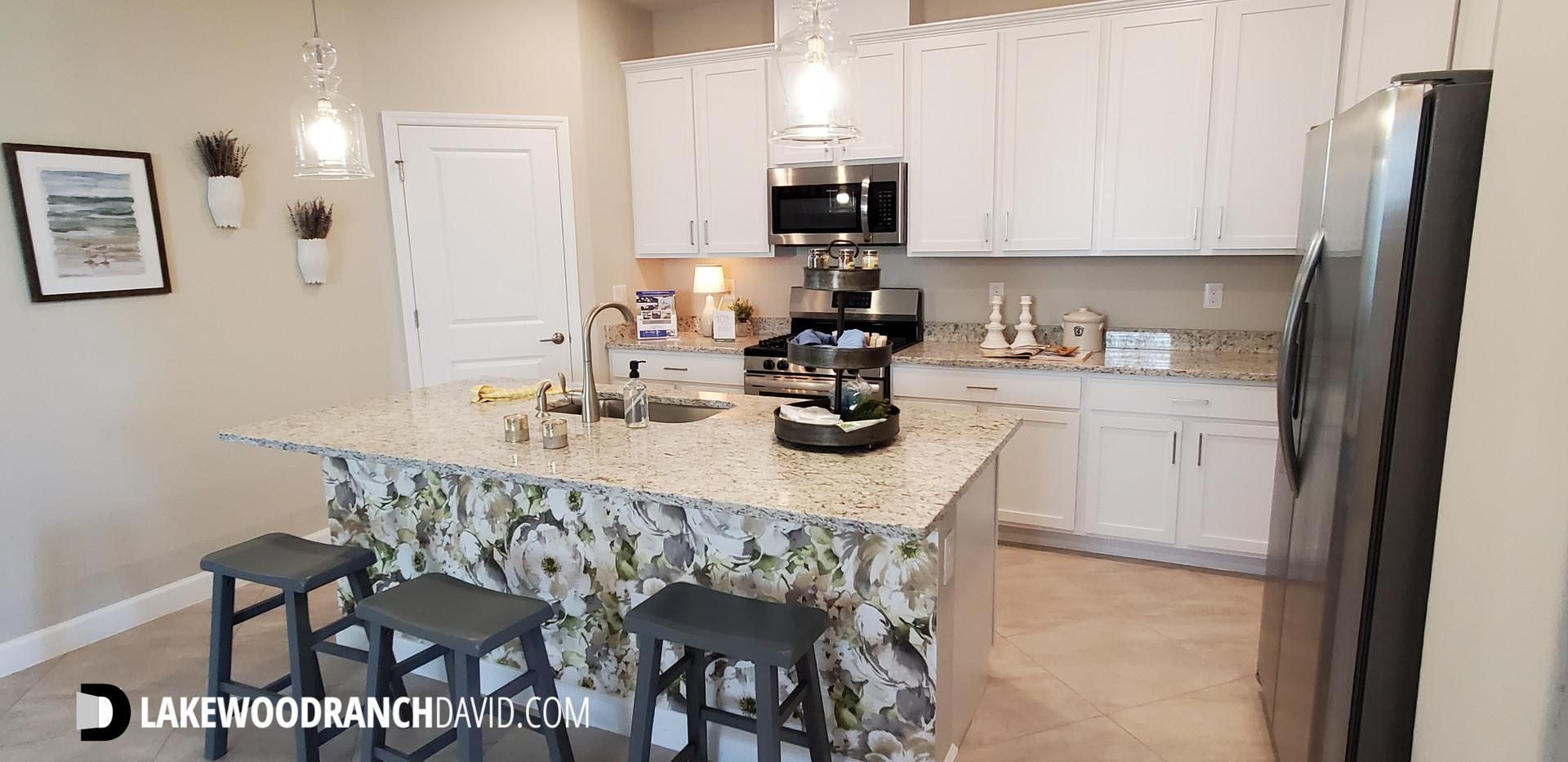 Lorraine Lakes Lakewood Ranch Trevi model home kitchen