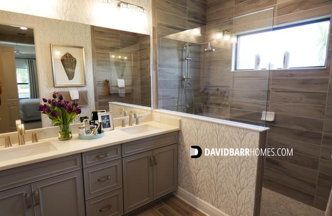 Vicenza Starlight model home master bathroom