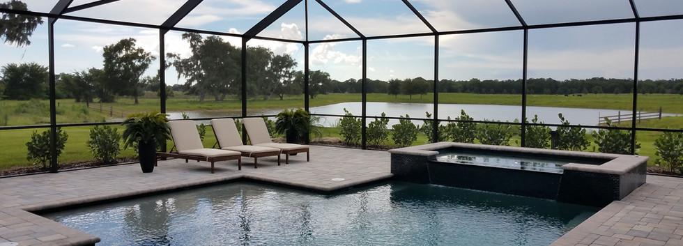 Hampton Lakes model home pool