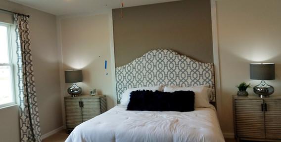 The Palisades Lakewood Ranch model home master bedroom