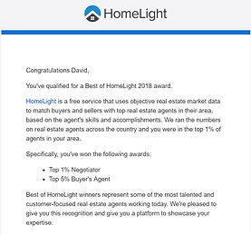 David Barr Venice FL Realtor 2018 HomeLight Award Winner