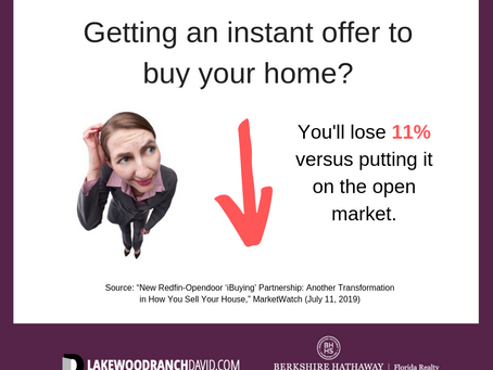 Beware Sarasota Real Estate Instant Offers