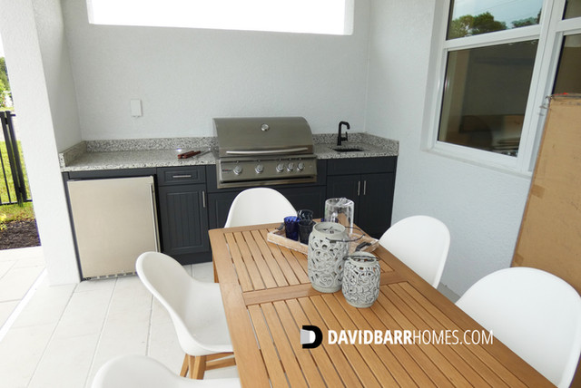 Toll Brothers Venice Woodlands model home outdoor kitchen