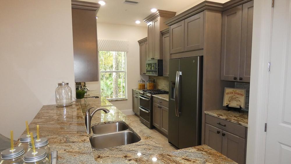 Hidden Creek model home kitchen