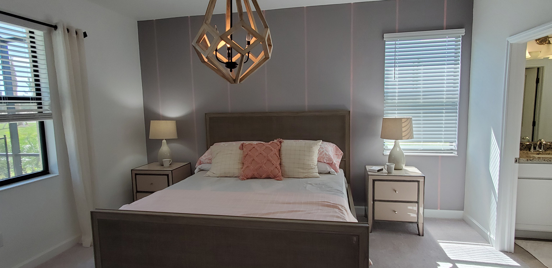 Lorraine Lakes Lakewood Ranch Trevi model home bedroom