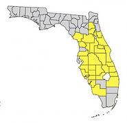 Florida scrub jay map of habitat