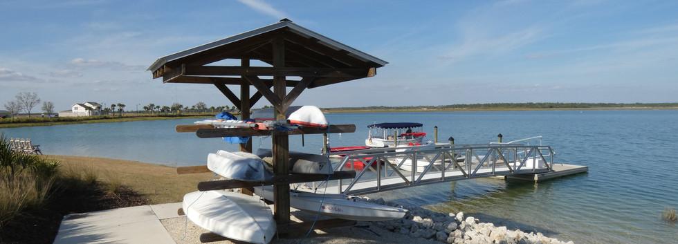 Kayak launch at Babcock Ranch FL