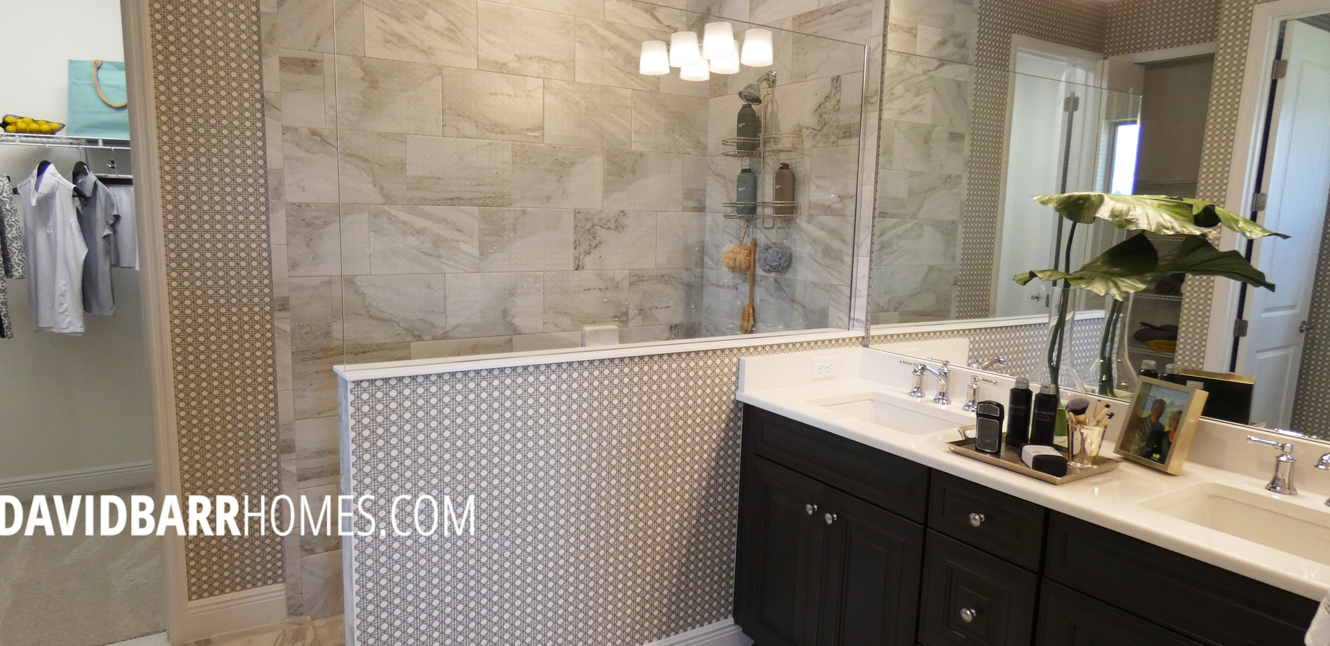 Vicenza White Star model home master bathroom