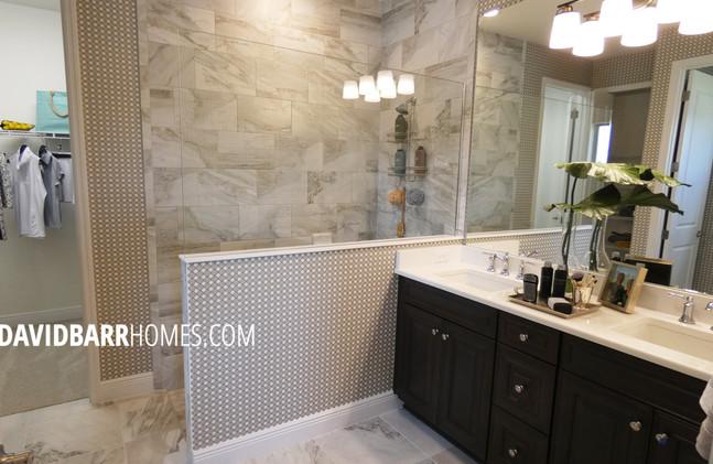 Vicenza White Star model home master bathroom