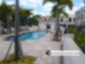 View of Island Court pool in Venice FL