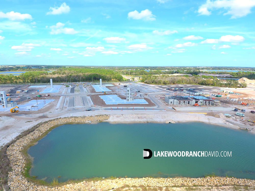 Construction at Waterside Place in Lakewood Ranch