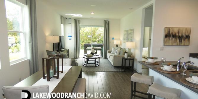 Open concept Woodleaf Hammock town home model