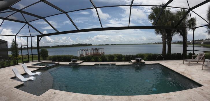 Model home pool at Waterside