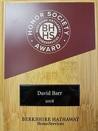 David Barr Venice FL Realtor 2018 BHHS award winner