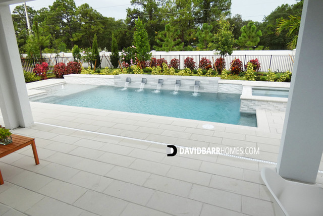 Toll Brothers Venice Woodlands model home pool