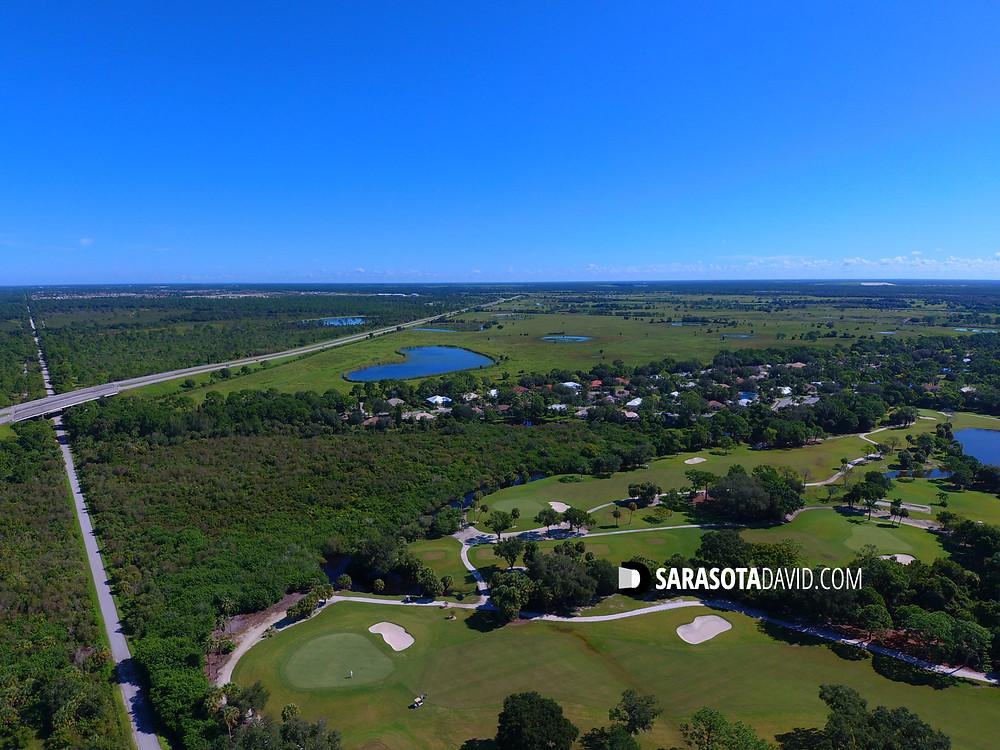 Site of Talon Preserve Sarasota looking east