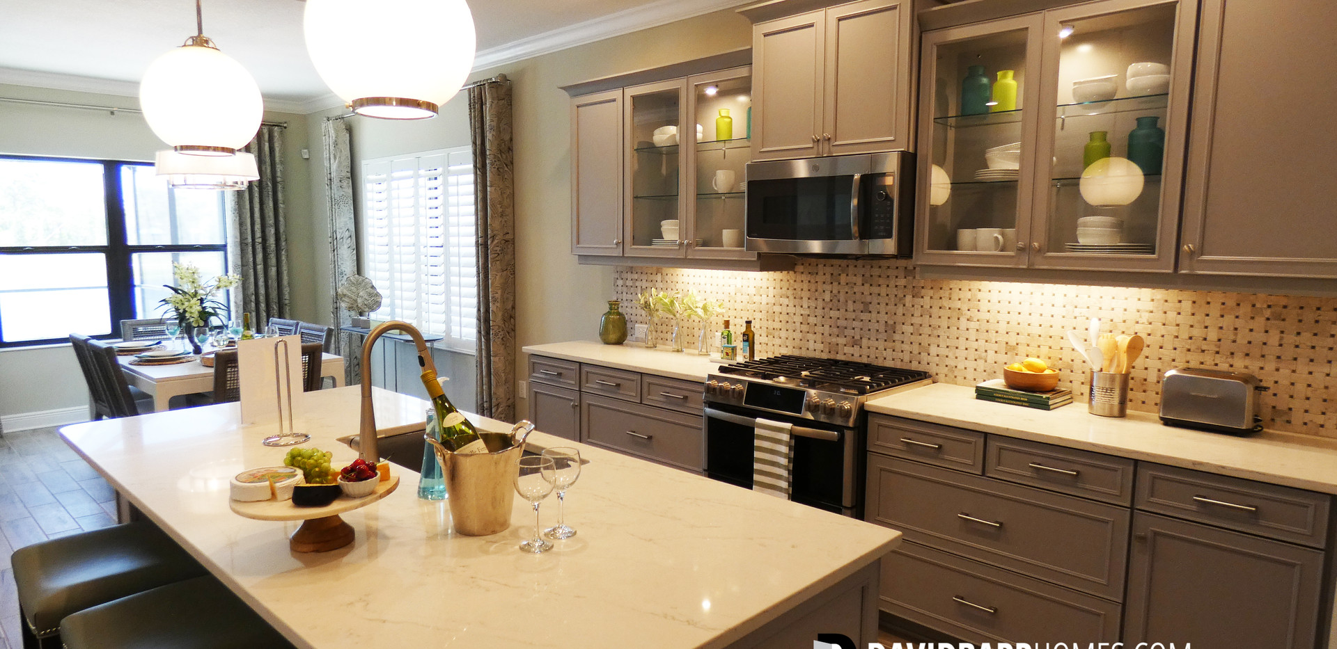 Vicenza Starlight model home kitchen