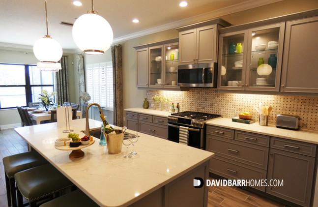 Vicenza Starlight model home kitchen