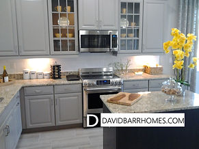 Keyway Place kitchen in model home