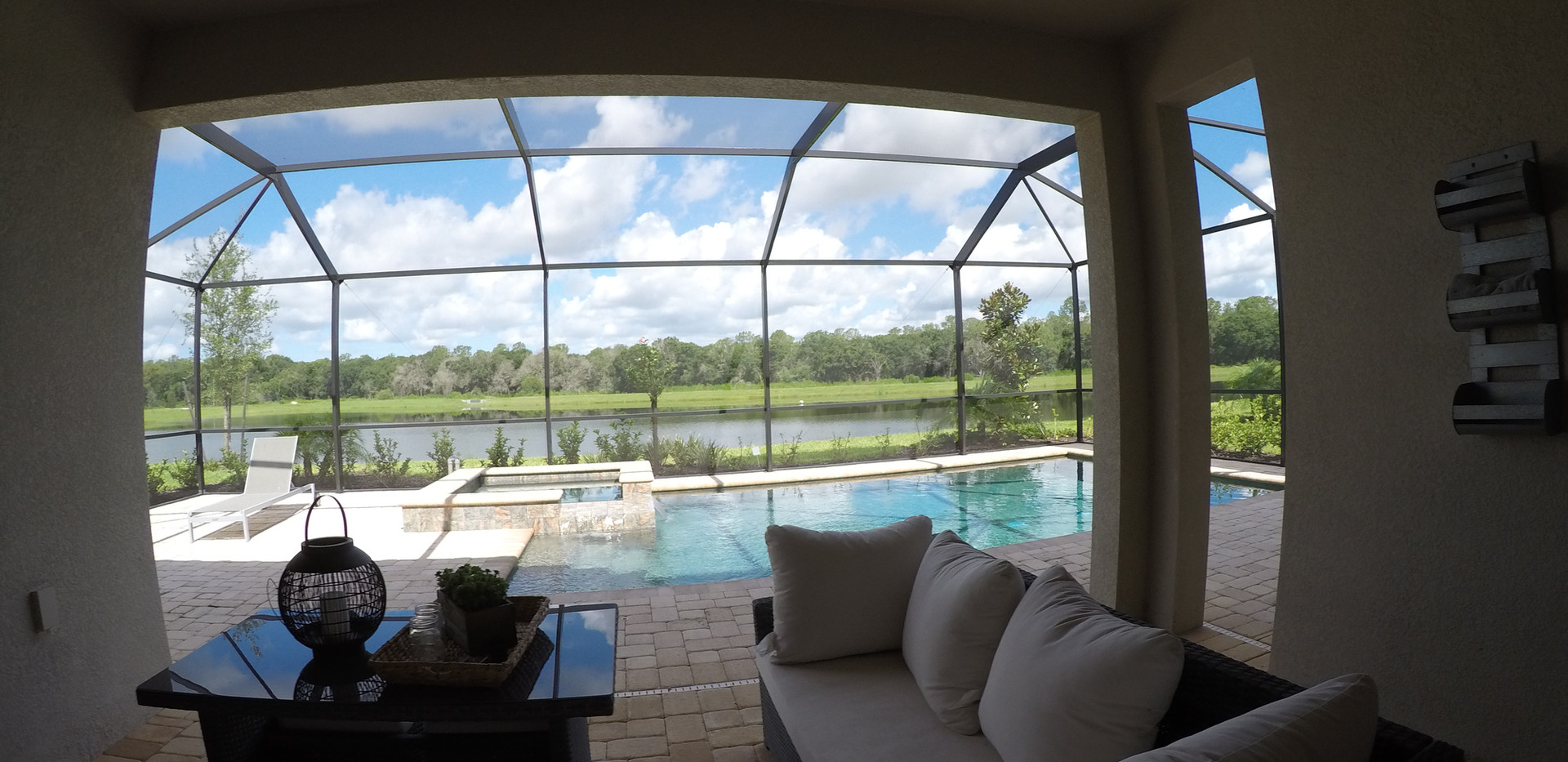 Model home pool in Polo Run