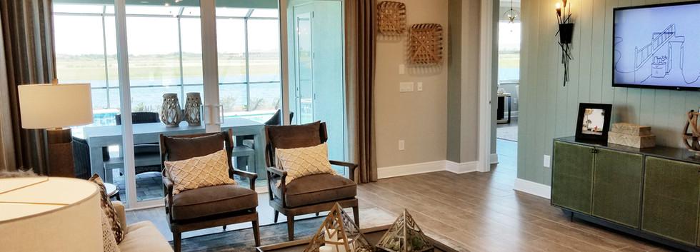 Worthington model home living room