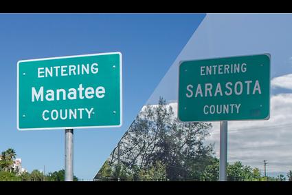 Sarasota vs Manatee County property taxes