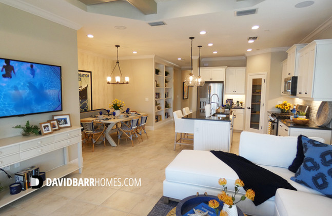 Vicenza Victory model home great room