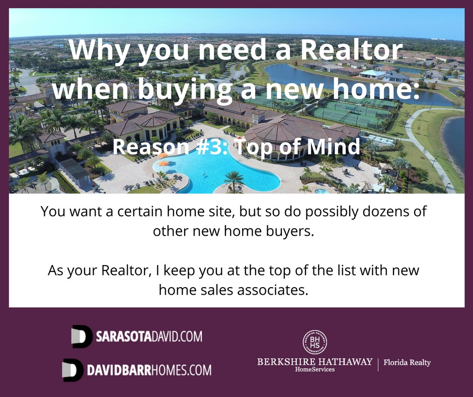 You need a Realtor to help you when buying a new home