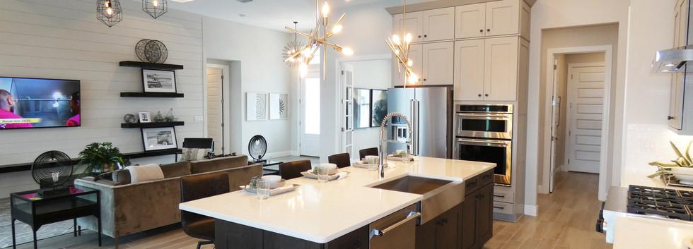 Open floor plan in Cardel Homes model in