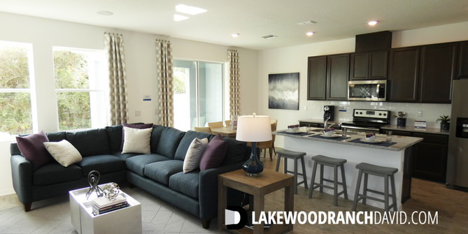 Open living area in Woodleaf Hammock town home