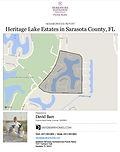 Heritage Lake Estates Venice FL demographic and real estate report