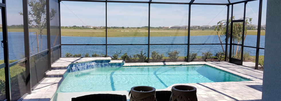 Worthington model home pool