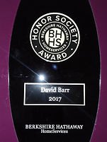 David Barr Venice FL Realtor 2017 Berkshire Hathaway Honor Society Winner