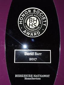 David Barr Sarasota FL Realtor 2017 BHHS Award Winner
