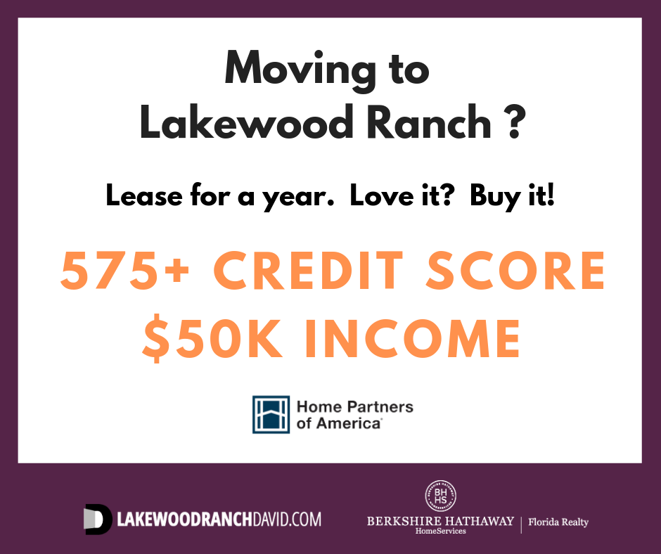 Easy qualify terms for Home Partners program in Lakewood Ranch