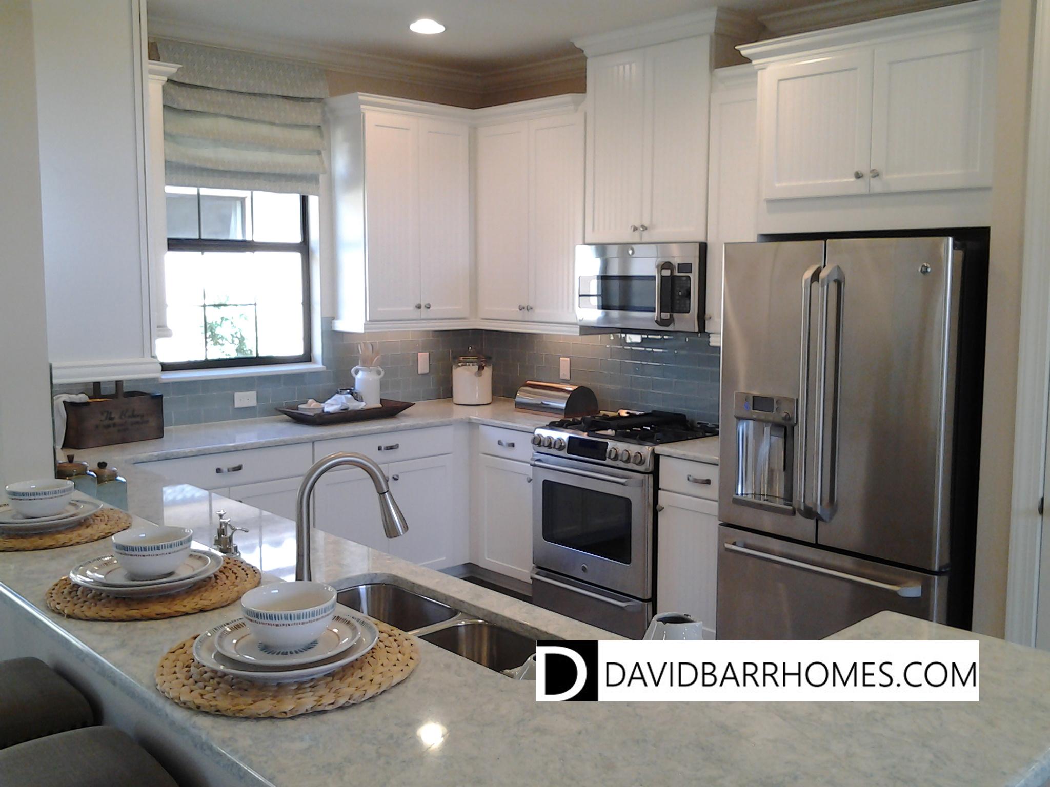 Bellacina model home kitchen white