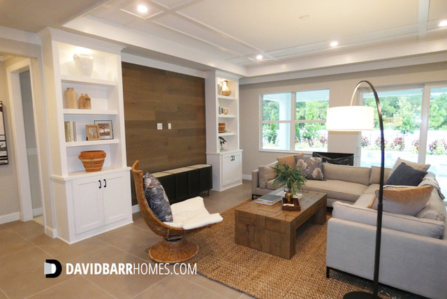 Toll Brothers Venice Woodlands model home living room
