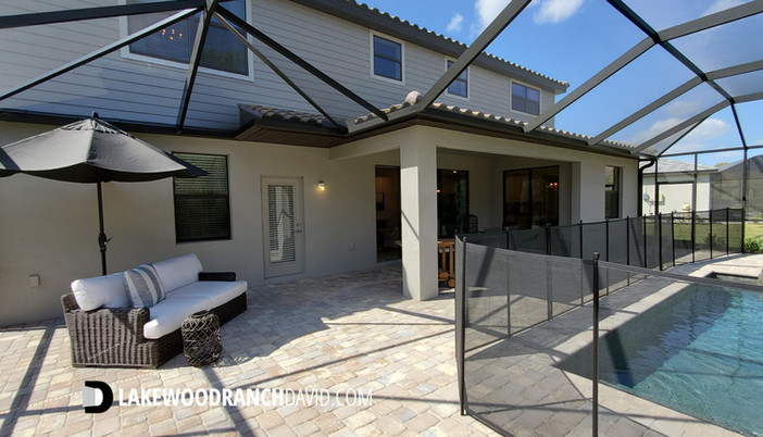 Lorraine Lakes Lakewood Ranch Sorrento model home pool
