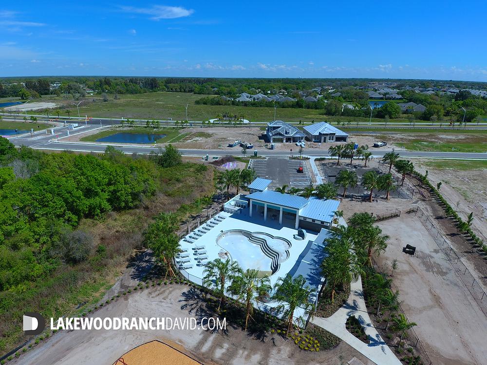 Woodleaf Hammock Lakewood Ranch community pool under construction