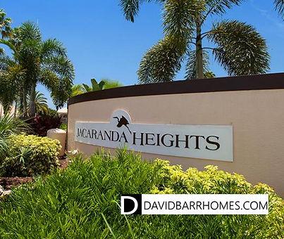 Jacaranda Heights Venice FL homes for sale