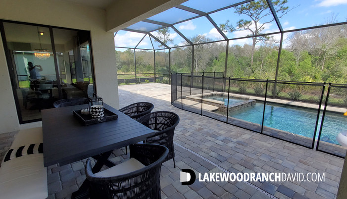 Lorraine Lakes Lakewood Ranch Summerville model home pool