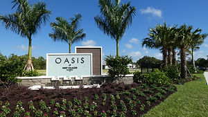 Oasis at The West Villages entrance